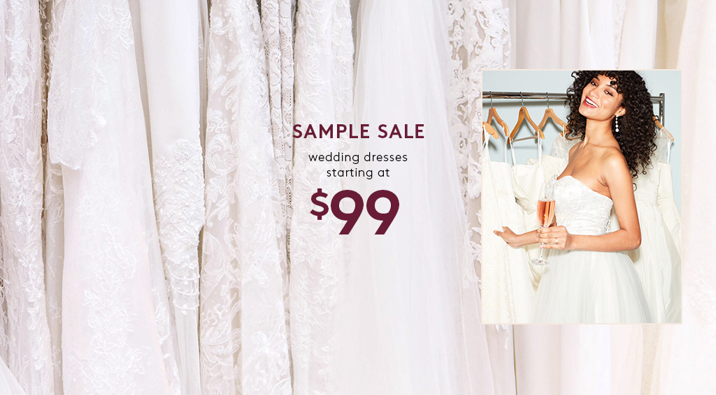 sample sale - dresses starting at $99
