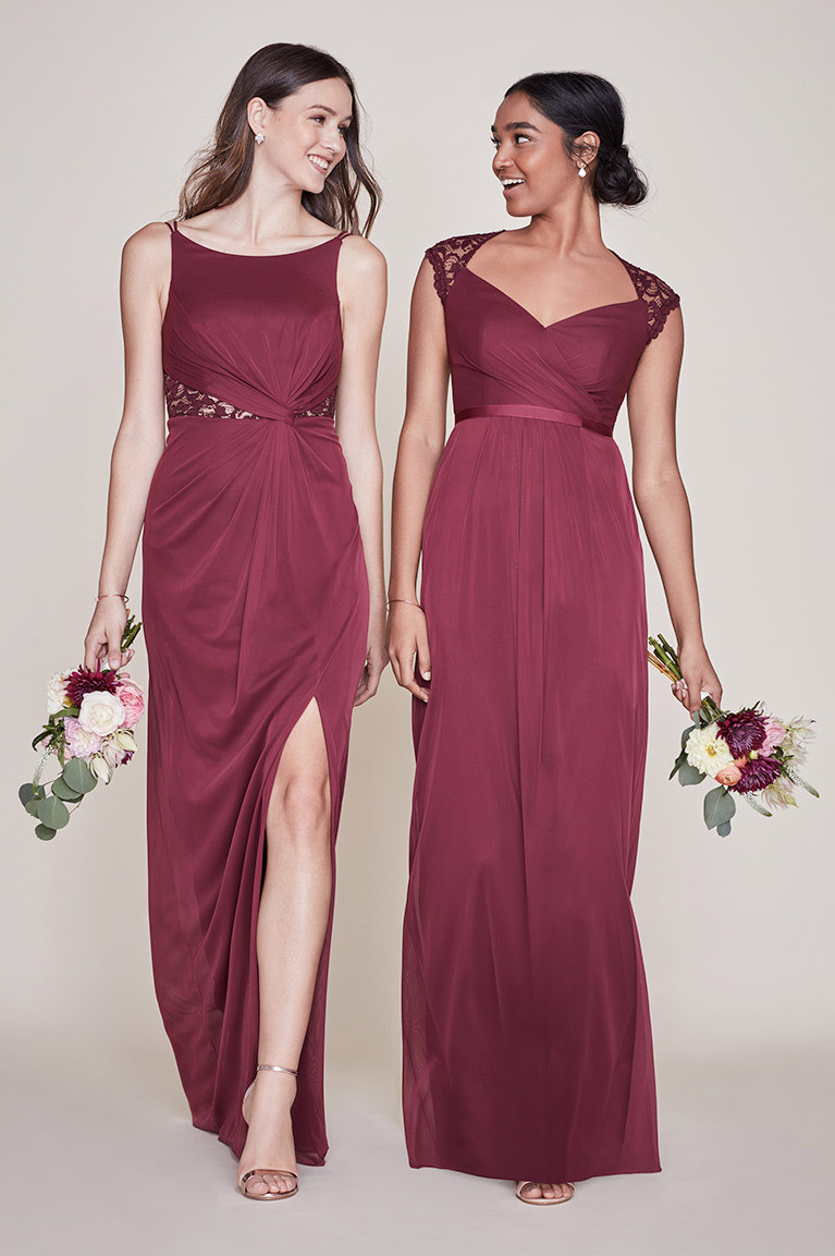 Two Bridesmaids Mismatched in Wine Two Bridesmaids Mismatched in Wine 5336be90d9c7