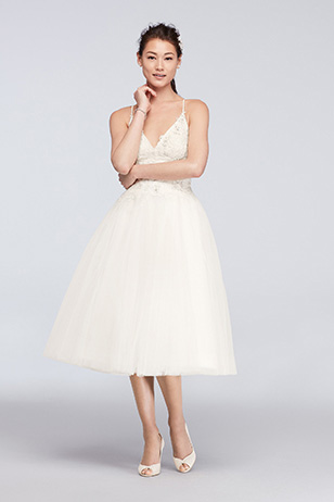 Tea-Length Wedding Dress: Before